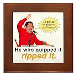 Hugo Chavez Sulphur Smell Framed Tile