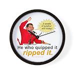 Hugo Chavez Sulphur Smell Wall Clock