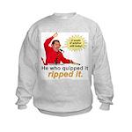 Hugo Chavez Sulphur Smell Kids Sweatshirt