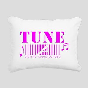 Tune music white design Rectangular Canvas Pillow