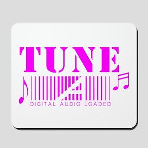 Tune music white design Mousepad