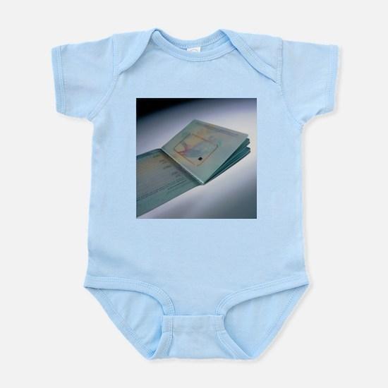 Biometric passport chip - Infant Bodysuit
