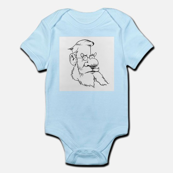 Alfred Wallace, caricature - Infant Bodysuit