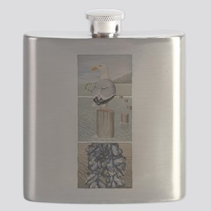 Seagull and Mussels Flask