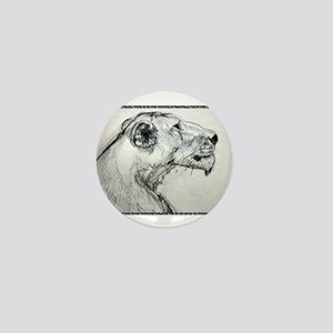 Lion! lioness, wildlife art! Mini Button