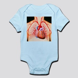 Human heart, artwork - Infant Bodysuit