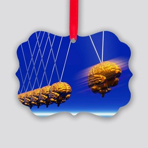 Newton's cradle with brains, artwork - Picture Orn