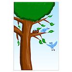 Tree Birds Large Poster