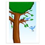Tree Birds Small Poster