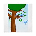 Tree Birds Queen Duvet