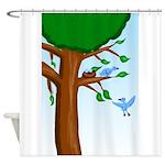 Tree Birds Shower Curtain