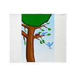 Tree Birds Throw Blanket
