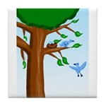 Tree Birds Tile Coaster