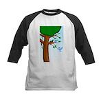 Tree Birds Kids Baseball Jersey