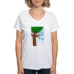 Tree Birds Women's V-Neck T-Shirt