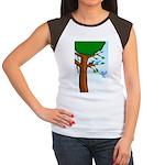 Tree Birds Women's Cap Sleeve T-Shirt