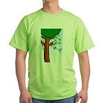 Tree Birds Green T-Shirt