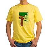 Tree Birds Yellow T-Shirt