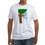 Tree Birds Fitted T-Shirt