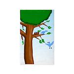 Tree Birds 3'x5' Area Rug
