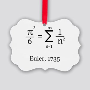 Eulers Formula for Pi Picture Ornament