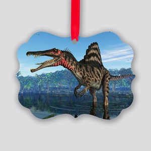 Spinosaurus dinosaur, artwork - Picture Ornament