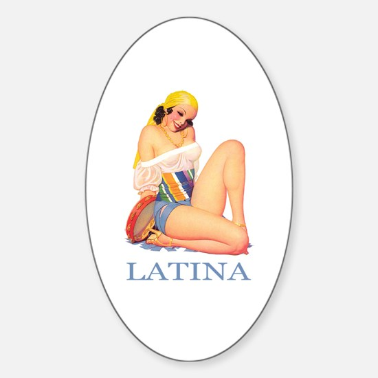 Latina Sticker (Oval)