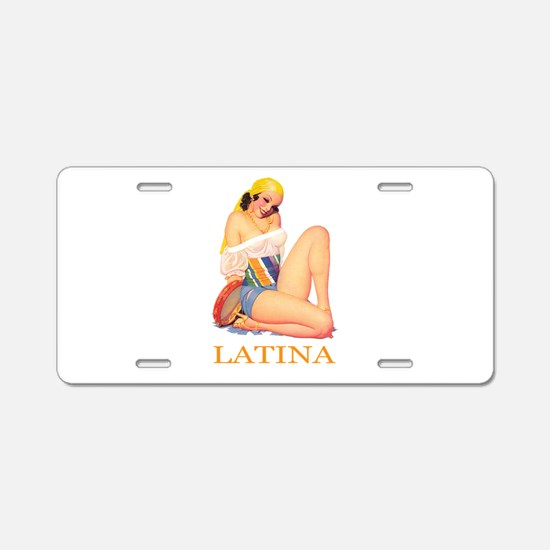 Latina Aluminum License Plate