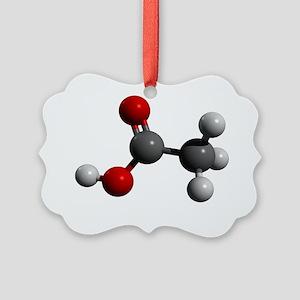 Acetic acid molecule - Picture Ornament