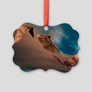 Bats in flight, artwork - Picture Ornament