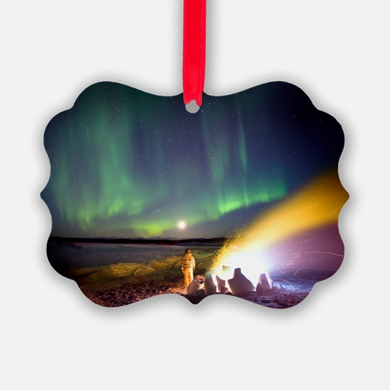 Aurora borealis in Alaska - Ornament