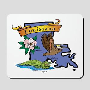 Louisiana Map Mousepad