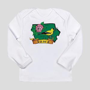 Iowa Map Long Sleeve Infant T-Shirt