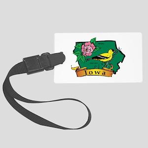 Iowa Map Large Luggage Tag