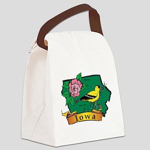 Iowa Map Canvas Lunch Bag