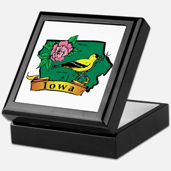 Iowa Map Keepsake Box