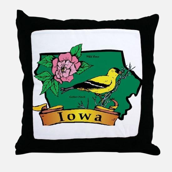 Iowa Map Throw Pillow