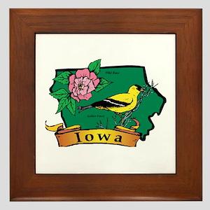 Iowa Map Framed Tile
