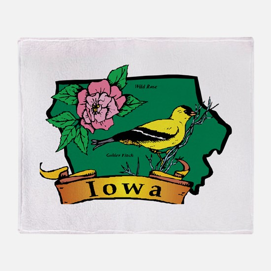 Iowa Map Throw Blanket