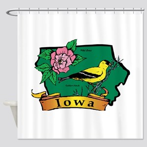 Iowa Map Shower Curtain