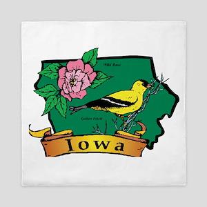 Iowa Map Queen Duvet