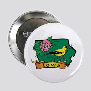 "Iowa Map 2.25"" Button"