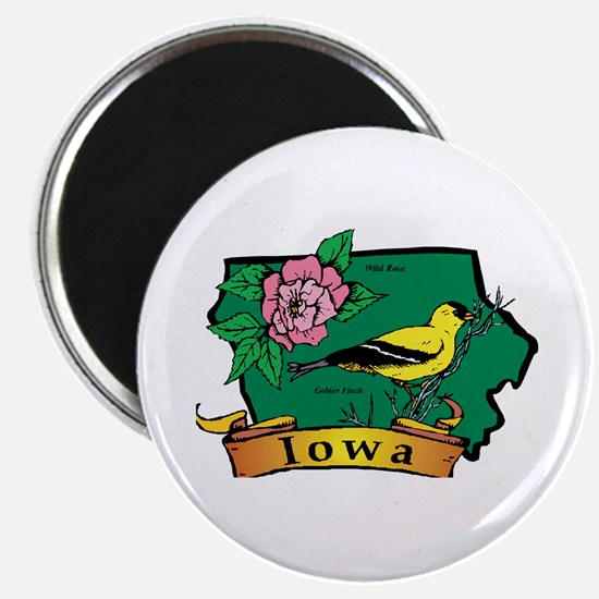 Iowa Map Magnet