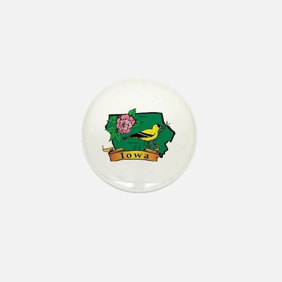 Iowa Map Mini Button
