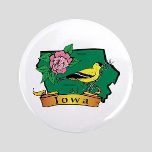 "Iowa Map 3.5"" Button"