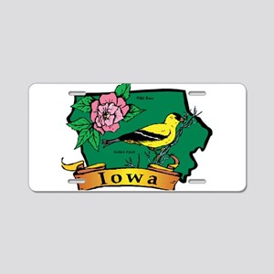 Iowa Map Aluminum License Plate