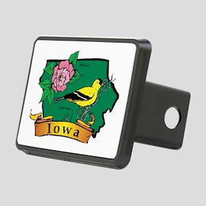Iowa Map Rectangular Hitch Cover