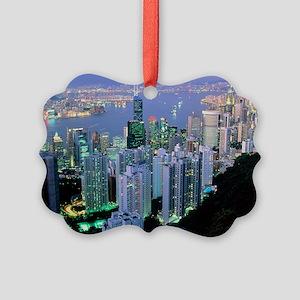 Hong Kong at dawn - Picture Ornament