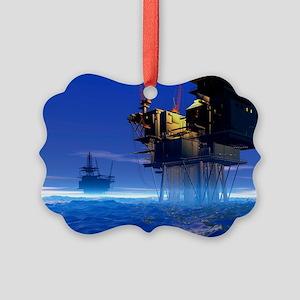 Oil rigs, artwork - Picture Ornament