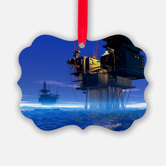 Oil rigs, artwork - Ornament